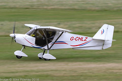 G-CHLZ - 2012 build Best Off Skyranger Swift, departing from Runway 26L at Barton during FlyUK 2018 (egcc) Tags: bmaahb626 barton bestoff cityairport egcb flyuk gchlz lightroom manchester microlight ridge skyranger swift