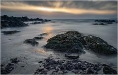 Trewent Point (Hugh Stanton) Tags: sunset seashore shoreline rocks kelp