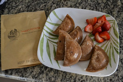 Sweet Potato Pierogies and Strawberries (Vegan Butterfly) Tags: food yummy tasty delicious sweet potato pierogies strawberries ukrainian vegetarian vegan