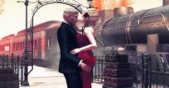 All aboard (Talula Shippe) Tags: second life secondlife couple avatar romance love tango sensual dance train station