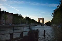 Modern Building from Amsterdam Canal (Eric Gross) Tags: architecture amsterdam thenetherlands canals light on1 urbanlandscape landscape