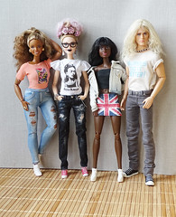 Going out with friends! (FreeRangeBarbie) Tags: barbie fashiondoll style madetomove blackbarbie diy ooak