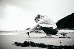 Baltic (tonyhoertrauschen) Tags: bw blackandwhite bokeh 35mm fuji fujix100f beach ocean art smartphone travel bright people girl