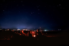 Late Nights (twahl8) Tags: stars night fire oregon long exposure canon astrophotography west coast
