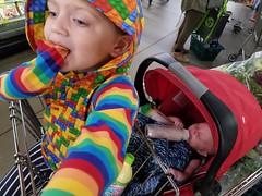 More kids than groceries (quinn.anya) Tags: groceries groceryshopping baby toddler sam eliza berkeleybowl