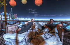 Trust (Milla DelRay) Tags: secondlife sl landscape landscapes portrait portraits nature sea water sky lantern lanterns couple couples friend friends friendship love