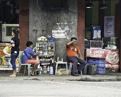 All Too Much (Beegee49) Tags: street traffic enforcer vendor filipina bacolod city philippines