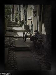 alley way bike (Mallybee) Tags: f28 1235mm dcg9 g9 lumix panasonic mallybee bike alley robin hoods bay