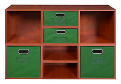PC4F4HWC-2F2HGN_2 (RegencyOfficeFurniture) Tags: niche regency cubo cubestorage modularstorage modular connecting connectable adaptable custom customizable cube square storageset closet organizer organization furniture cubes expandable home melamine laminate woodtone cherry warmcherry pc4f4hpk pc1211wc green springgreen greenstorage greentotes greenbins htotegn