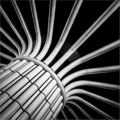 Sprouting (Ulrich Neitzel) Tags: abstract architecture architektur bw hamburg lines linien mzuiko1240mm metro monochrome olympusem1 pillar schwarzweiss square säule