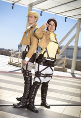 _MG_7184 (Mauro Petrolati) Tags: attack titan shingeki no kyojin romics 2018 cosplay cosplayer erwin hanji zoe gabriele beatrice