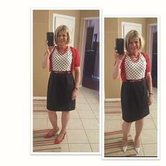 Patent red or polka dot heels? (krislagreen) Tags: tg transgender transvestitie cd crossdresser dress polkadot black red patent redpatent femme femininized feminiztation xdresser sissifed sissy