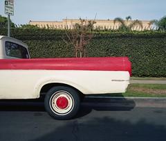 DIY pickup (ADMurr) Tags: la hollywood red white pickup diy paint dac712edit 6x7