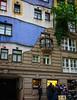 Hundertwasserhaus, Vienna (Tigra K) Tags: wien austria at 2017 architecture balcony blue city color contemporary expressionism funny lattice tiles vienna vine