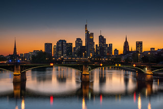Frankfurt afterglow - Frankfurt glüht nach