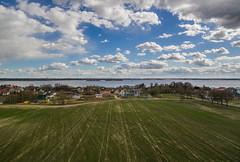 Laparavichy (free3yourmind) Tags: laparavichy sky cloud cloudy blue green field houses aerial sea minsk belarus xiaomi mi drone spring
