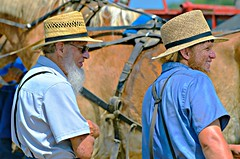 Amish Heritage Center's Steam Festival (forestforthetress) Tags: amish centralillinois chesterville arcolaillinois omot nikon outdoor color history culture man face people festival steamfestival hats