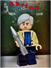 Harlan Ellison (LegoKlyph) Tags: lego custom brick block build mini figure scifi author angry space writing books tv rockets aliens robots