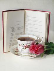(Julia C. F) Tags: tea teacup tealover rose flower pink books stilllife