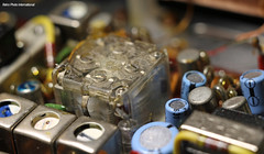 The Cube (Retro Photo International) Tags: macromondays carl zeiss jena 50mm 35 tessar amfm radio emerson electronics macro made japan 7dwf