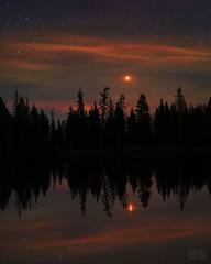 "MARSrise (IronRodArt - Royce Bair (""Star Shooter"")) Tags: mars planet nightscape starrynightsky marsrise astronomy nightphotography lake reflection evening nightsky"