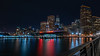 City (Lisa Ouellette) Tags: ferrybuilding pier15 neon reflections sanfrancisco water night