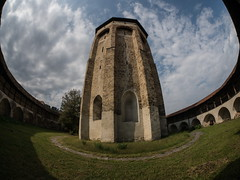 stuck in the middle (vldd) Tags: fisheye samyang 75mm sky church architecture arch building stone oval pov romania symetry tower