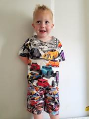 Paul in his shorts (quinn.anya) Tags: paul toddler cars shorts smile