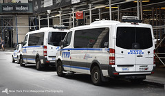 Several 2015 NYPD Sprinters (PBMS) (nyfrp) Tags: manhattan downtown new york city nyc ny west south tribeca village nypd police car policecar vehicle world trade center wtc freedom tower memorial street nyfrp first response nikon d3400 sprinter van
