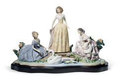 Lladro 01008664 DAYDREAMING BY THE POND (Lladro from Spain Montinas) Tags: lladro porcelain daydreaming pond ladies art