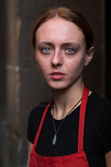 Ellis, Glasgow (Charles Hamilton Photography) Tags: glasgowstreetportrait streetportrait portrait queenstreet eyecontact backstreet characterstudy colourstreetportrait citycentre girl girlinthecity blueeyes naturallight primelens nikond750 alley glasgowstreetphotography glasgowcharacter charleshamilton
