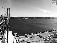 Through the glass again (Pedro Nogueira Photography) Tags: bridge pillar pedronogueira pedronogueiraphotography photography iphoneography iphonex monochrome architecture engineering lisboa lisbon portugal tejo tagus river rio blackandwhite landscape sight eyesight horizon city sky road