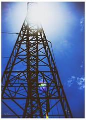 Paen To Tesla (swanksalot) Tags: tesla electric electricity sun sunlight paen lookingup tweeted chicago