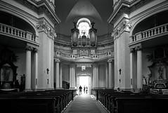 Pilgrims (photo majtan) Tags: pilgrims faith blackandwhite basilica people light knowledge