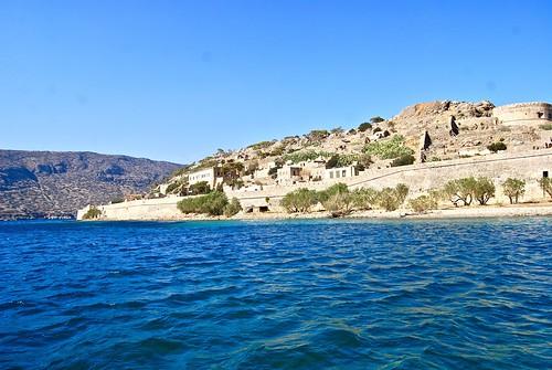 Sailing to Spinalonga, Crete from Plaka (Near Aghiao Nikolos)