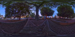 Fairview Park Playground (DerekSteen) Tags: fairviewpark nazareth park trees sunset hdr slide swings playground 360 photosphere equirectangular