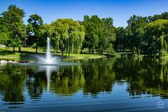 Downing Park (brianloganphoto) Tags: pond daytime blue newburgh orangecounty nature landmark newyork park green trees fredericklawolmsted historical unitedstates us