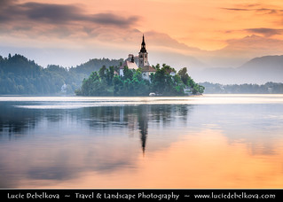 Slovenia - Julian Alps - Iconic Lake Bled at Sunrise