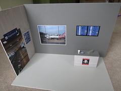 3. Airport Progress (Foxy Belle) Tags: barbie airport doll diorama make ooak froggy stuff printable paper foam board gray 16 scale dollhouse miniature