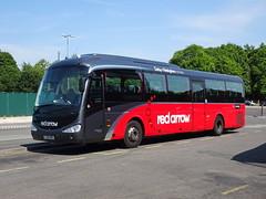 trent barton 75 Derby (Guy Arab UF) Tags: trent barton 75 fj10oxr scania k94ib4 irizar i4 derby bus station derbyshire wellglade red arrow buses wellgladegroup