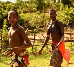 Banna Tribe (Rod Waddington) Tags: africa african afrique afrika äthiopien ethiopia ethiopian ethnic etiopia ethnicity ethiopie etiopian omovalley outdoor omo omoriver outdoors banna tribe traditional tribal woman boy landscape red culture cultural
