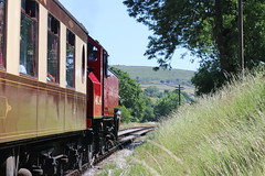 Ivatt Tank and the 50th Anniversary Re-opening Special (Paul Brunt) Tags: kwvr keighley keighleyandworthvalleyrailway worthvalley worth valley railway train steam steamtrain 50th anniversary westyorkshire yorkshire england northernengland unitedkingdom uk