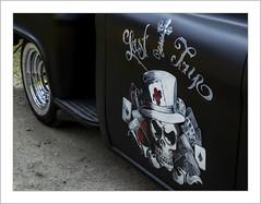 Last Trip (Francis =Photography=) Tags: camion truck roue rad wheel lkw chevrolet oldtimerchevrolet chevroletpickupstepside peinture paint malerey painting schädel skull crâne