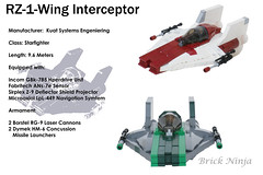 A-Wing Interceptor (Brick.Ninja) Tags: lego star wars movies spaceship starfighter minifig scale custom model awing moc own creation legomoc interceptor