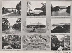 Advertising postcard for Newport Hotel, Pittwater, N.S.W. - circa 1905 (Aussie~mobs) Tags: stuartgreig pittwater newporthotel advertisement advertisingpostcard newsouthwales vintage australia multiview newport 1905 aussiemobs