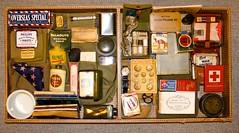 WW-2 U.S. Life in a Box (Pacific Kilroy) Tags: worldwarii pacifictheater gifootlocker personalgear ww2 wwii us army footlocker tray display collectible relic artifact antique memorabilia militaria