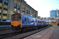 Northern Sprinter 150148 (Will Swain) Tags: harrogate station 21st march 2018 north yorkshire town centre train trains rail railway railways transport travel uk britain vehicle vehicles country england english northern sprinter 150148 class 150 148