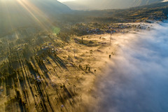 Magic moment (3dgor 加農炮) Tags: p4pv2 hdr nisicpl drone village indonesia mountbromo morning sunlight shadow cloud cloudscape seaofclouds