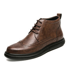 Men Casual Brogue Style Microfiber Leather High Top Ankle Boots (1229212) #Banggood (SuperDeals.BG) Tags: superdeals banggood bags shoes men casual brogue style microfiber leather high top ankle boots 1229212