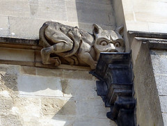 Magdalen College, Oxford (mira66) Tags: gwuk gargoyle cat sculpture college chapel magdalen oxford university drain rainwaterhead